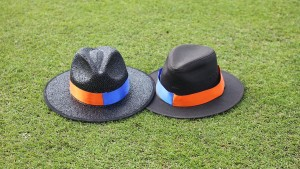 Two trilby hats