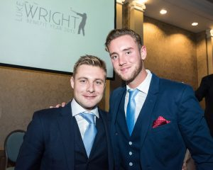 Luke Wright with Stuart Broad