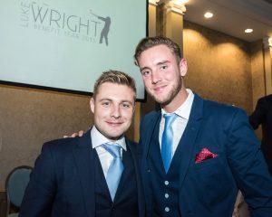 Luke Wright with Stuart Broad